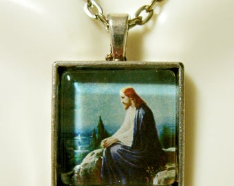 Christ on the Mount of Ollives pendant and chain - AP28-040