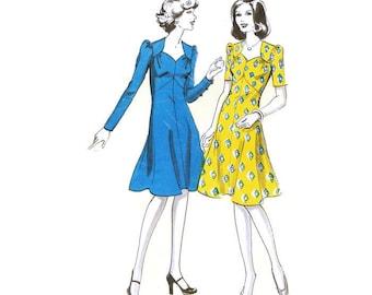 1970s does 40s Sweetheart Dress Pattern Ullstein 6837 B34 - B38 Unused