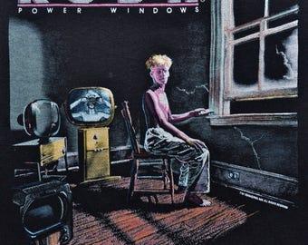 Vintage 80s 1985 1986 RUSH Power Windows Canadian Rock Concert Tour T SHIRT M L