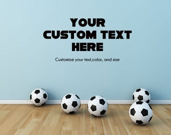 Custom Wall Decal Customized Kids Boys or Girls Room Wall Decor Decal - Your Customized Wall Decal with Choice of Color, Font, and Text