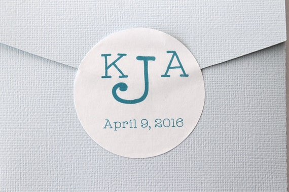 Monogram, Personalized Wedding Stickers, Wedding Favor Stickers,  Wedding Invitation Stickers