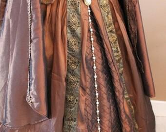 Queen Regent WHITE Pearl Girdle Belt  in Gold Tudor Renaissance Medieval Costume