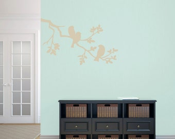 Birds On A Branch - Trees and Branches Animal Wall Decals
