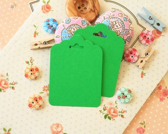 Spring Green fancy ornate scallop tags