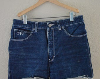 Vintage High Waisted Sergio Valente Cut Off Jean Shorts