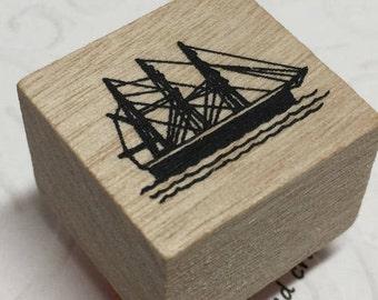 Mini Yacht Stamp,Mini Sailboat Stamp,Boating Craft Idea,Travel the World Stamp,Pirate Ship Craft,Sailboat Craft Idea,Boat Stamp,Travel Stamp