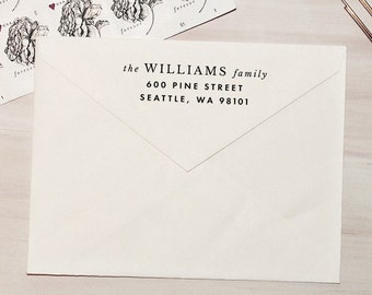 Self-Inking Return Address Stamp, Modern Stamp, Custom Stamp, Personalized Stamp, Wedding Stamp, Return Address Stamp - Style #56