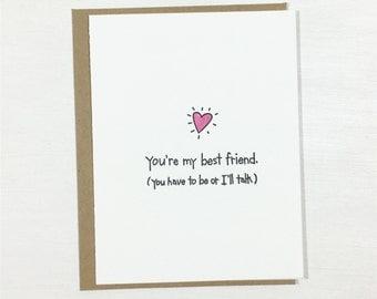 Best friend card | Etsy