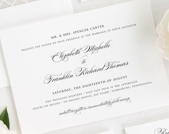 Timeless Elegance Wedding Invitations - Sample
