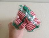 Vintage Christmas Picks - Red & White Gifts - 2 Floral Picks