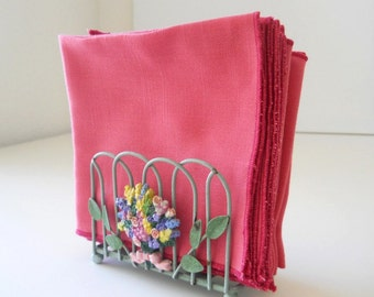 Cloth Table Napkins in Pretty Pink, set of 12, Table Napkins