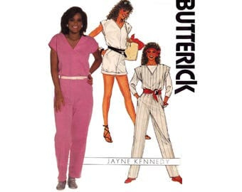 80s Jayne Kennedy Jumpsuit & Top Pattern Butterick 6634 Vintage Sewing Pattern Size 6 8 10 Bust 30 1/2 31 1/2 32 1/2 inches
