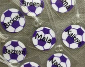 Personalized Soccer Bag Tag Soccer Tag  Soccer ID Tag Soccer Party Favor Soccer Gift Soccer Team Gift Soccer Ball Bag Tag Soccer Party Gift