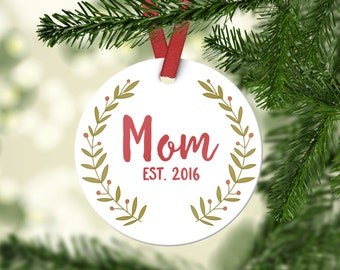Christmas Gifts for Mom Baby Shower Gift New Mom Gift Personalized Christmas Ornament Personalized Shower Gifts for Mom Christmas Ornaments