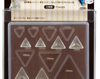 Padico Soft Clay and UV Resin Mold Soft Mold Triangle Pyramid (PP) from Japan - Accessories/ Charm/ Fake sweets /  bag accessories 404217