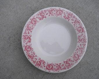 "Vintage 9"" RImmed Soup Bowl, Syracuse China, Roxbury / Mayflower"