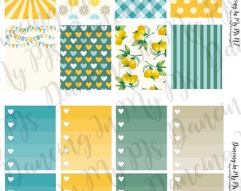When Life Gives you Lemons Erin Condren Vertical Weekly Spread Six Sheet Kit
