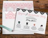 Timeline Invitation, Bachelorette Party, Bridal Shower, Lingerie Shower, Clip Art Images, Timeline Card, Printable Digital, Printed Invites