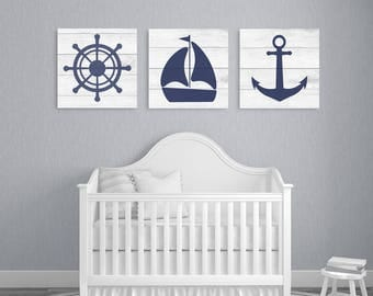 Nautical Nursery Decor, Nursery Wall Art, Nursery Print, Boys Room Decor, Baby Boy Nursery, Boys Room Art, Little Boys Room