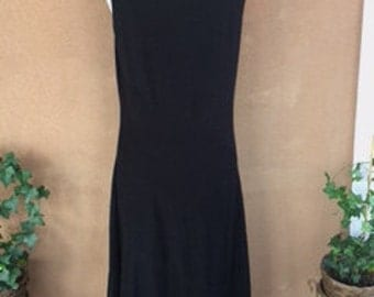 Sleeveless Black Summer Dress