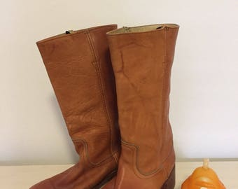 ACME COWBOY BOOTS/Mens Cowboy Boots/Size 8D/Made in U S A/Street Style at Modern Logic