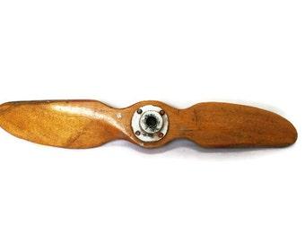 Vintage Airplane Propeller / Hardwood Model Plane Prop / Industrial or Man Cave Decor / Model Airplane Parts