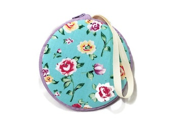 Vintage Floral Macaron Wristlet Wallet Clutch Medium or Small - The Prudence