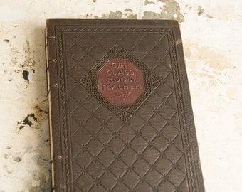 1928 CLASSROOM TEACHER Vintage Notebook Journal