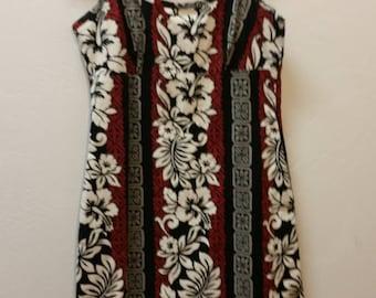 Hawaiian Sundress by TJ Made in Hawaii, Cotton, Slight Stretch, Hawaiian Print, XS, #64827