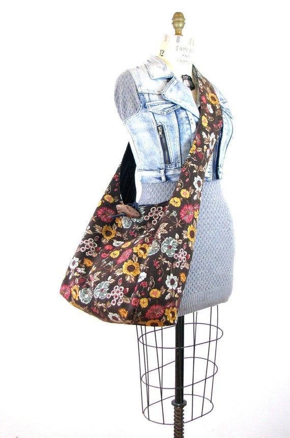 Brown Crossbody Bag for Women - Vegan Bag - Brown Hobo Bag - Hippie Bag - Gift for Vegan - Bohemian Bag - Cross Shoulder Bag - Boho Bag