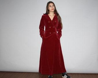 Vintage 1960s Merlot Burgundy Velvet Formal Evening  Coat  - Vintage 60s Velvet Jacket  - Vintage 1960s Burgundy Velvet - W00213