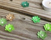 100-pack Paper Succulent Dimensional Confetti (AB Crystal Center)