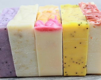 Soap Bundle - 4 bars - Handmade Soap Lot - Natural Soap Pack - Homemade Soap Bar Set - Cold Process Soap Variety Pack - Soap Set of 4 bars