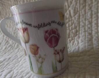 Vintage 1997 Marjolein Bastin Avon Tulip Mug Cup