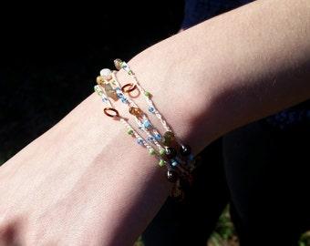 Assateague Beaded Wrap Bracelet / Wrap Necklace