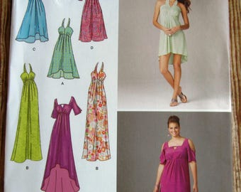 Misses Dress with Length and Sleeve Variations Sizes 10 12 14 16 18 Simplicity Pattern 1659 UNCUT