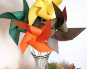 Thanksgiving Table Centerpiece Kids Table Activity Fall Paper Pinwheels Thanksgiving Favors 12 Pinwheels Fall Wedding Decoration Fall Leaves