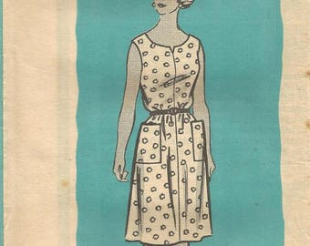 1970s Sleeveless Slip On Dress Mail Order 9217 Uncut FF Size 22.5 Bust 43 Womens Vintage Sewing Pattern