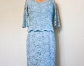 Sky Blue Lace Dress  - 1950s