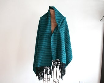 Teal Green Woven Shawl