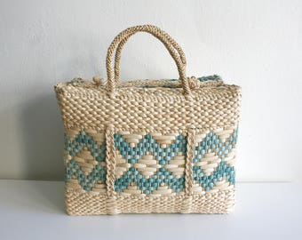 RESERVED for Suzy Sisal Beach Tote Bag