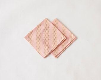 Pink Shimmer Dot Dinner Napkin Set
