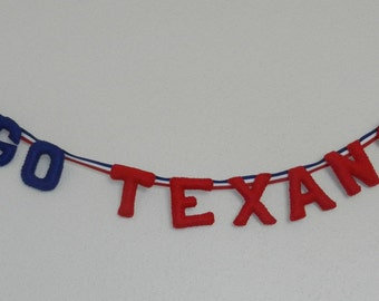 "Houston Texans ""Go Texans"" Banner"