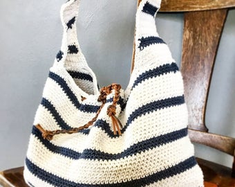 CROCHET PATTERN, The Cameron Slouchy Bag , Crochet Pattern, Easy Bag Pattern, Crochet  Pattern,  Summer Bag Pattern