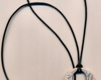 Glazed Porcelain Zebra Pendant Necklace