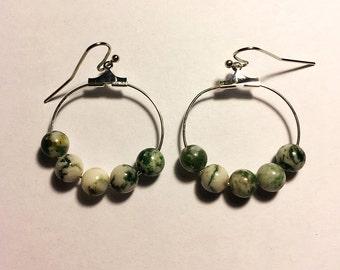 Tree Agate Gemstone Earrings