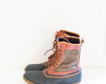 TIMBERLAND duck leather ankle boots - men's size 10