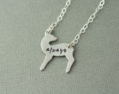Always Doe Necklace Harry Potter Snape Lily Hand Stamped
