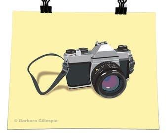 """35mm Camera, 8""""x10"""" Poster, Vector Illustration"""