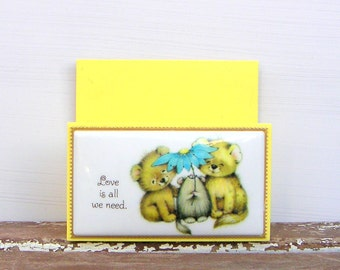 Love is All We Need Cute Critters Vintage Letter Holder